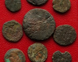 12 heavily worn Ancient Roman Coins A/3