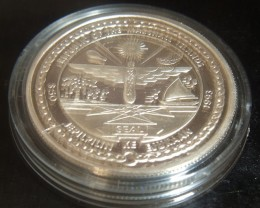 1993 Marshal Isles 'Elvis' $50 Coin.  1 Troy oz  .999 Silver