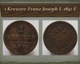 Austria 1 Kreuzer-Franz Joseph I. 1851 E!! KM#2185