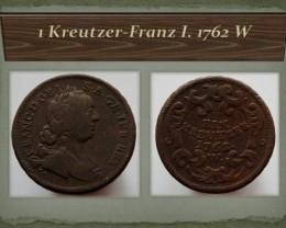 Austria 1 Kreutzer-Franz I. 1762 W KM#2007