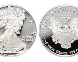 Silver Round's (4) 1/10 OZ .999 Fine Pure Silver