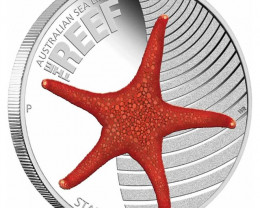 AUSTRALIAN SEA LIFE II  THE REEF- STARFISH 2011 1/2OZ SILVER