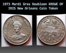 1973 Mardi Gras Doubloon KREWE OF IRIS New Orleans Token