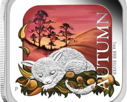 AUSTRALIAN SEASONS - AUTUMN 2013 1OZ SILVER PROOF SQ COIN