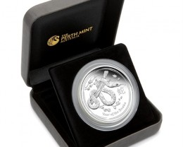 Australian Lunar Series II 2013 Year of the Snake 5oz Silver