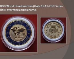 USO World Headquarters (Gala 1941-2007) coin UNC