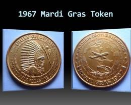 1967 Mardi Gras Token