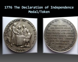 1776 The Declaration of Independence Medal/Token