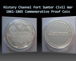 History Channel Civil War 1861-1865 Commemorative Proof Coin