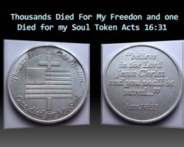 Thousands Died For My Freedon and one Died for my Soul Token