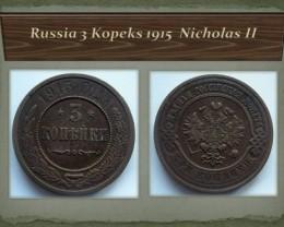 Russia 3 Kopeks 1915  Nicholas II Y#11.3