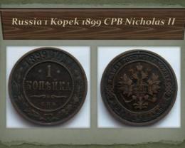 Russia 1 Kopek 1899 CPB Nicholas II Y#9.2