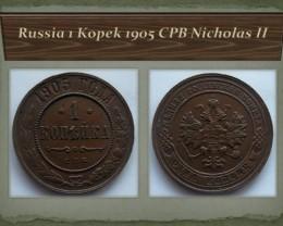 Russia 1 Kopek 1905 CPB Nicholas II Y#9.2