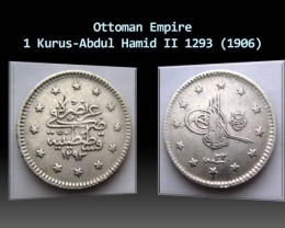 Ottoman Empire 1 Kurus-Abdul Hamid II 1293 (1906)