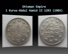 Ottoman Empire 1 Kurus-Abdul Hamid II 1293 (1903)