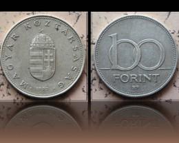Hungary 100 Forint 1995 KM#698