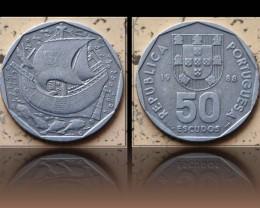 Portugal 50 Escudos 1988 KM#636