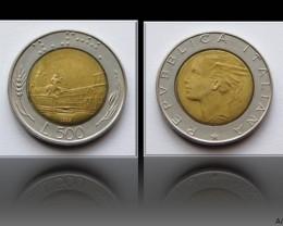 Italy 500 Lire 1989 KM#111