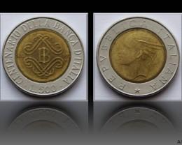 Italy 500 Lire 1993 (Bank of Italy Centennial) KM#160