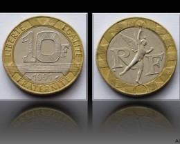 France 10 Francs 1991 KM#964