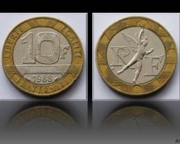 France 10 Francs 1988 KM#964
