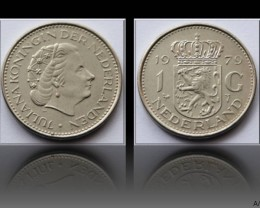Netherlands 1 Gulden-Juliana 1979 KM#184a