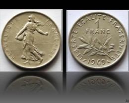 France 1 Franc 1969 KM#925.1