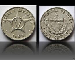 Cuba 5 Centavos 1968 KM#34