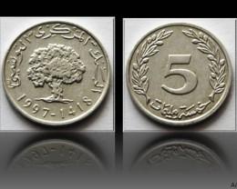 Tunisia 5 Millimes 1997 KM#348