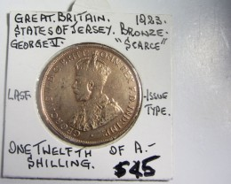LAST ISSUE TYPE 1/20 SHILLING 1923  COIN J 2011