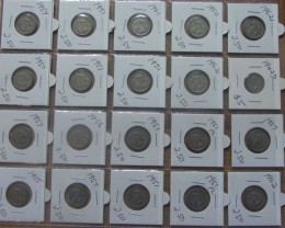 24 SILVER SIXPENCE 1942 - 1962  J2028