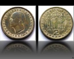 Greece 2 Drachmai-Paul I. 1957 KM#82