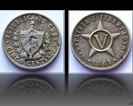 Cuba 5 Centavos 1961 KM#11