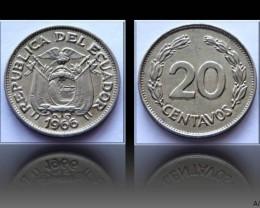 Ecuador 20 Centavos 1966 KM#77.1c