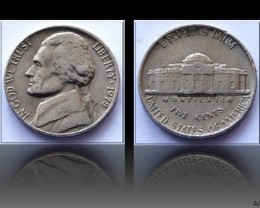 "United States 5 Cents ""Jefferson Nickel"" 1978 KM#192"
