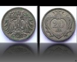Austria 20 Heller-Franz Joseph I. 1894 KM#2803