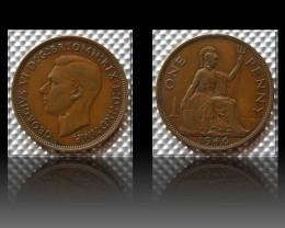 United Kingdom 1 Penny-George VI. 1946 KM#845