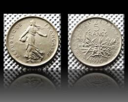 "France 5 Francs signature O.Roty"" 1970 KM#926a.1"