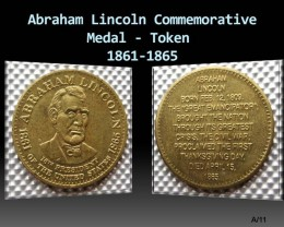 Abraham Lincoln Commemorative Medal - Token