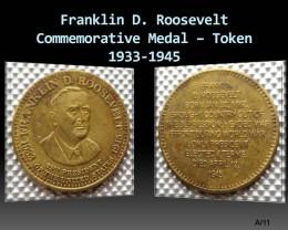 Franklin D. Roosevelt Commemorative Medal – Token