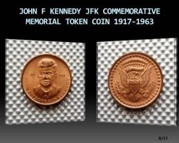 JOHN F KENNEDY JFK COMMEMORATIVE MEMORIAL COIN 1917-1963
