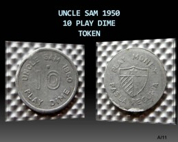 UNCLE SAM 1950 10 Play Dime Token