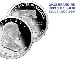 Silver Ben Franklin 1 OZ. .999 Fine Silver Round. NEW !!!
