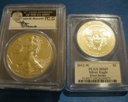 2012 W Burnished PCGS FS MS69 Mercanti label *Lowest Mintage
