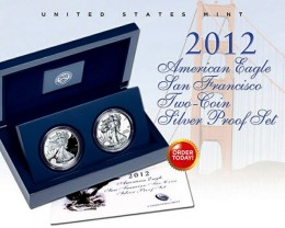2012 American Silver Eagle 2 Coin Proof Set from S. F. Mint
