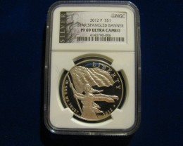 2012P Star Spangled Banner Proof 69 Ultra Cameo & Palladium