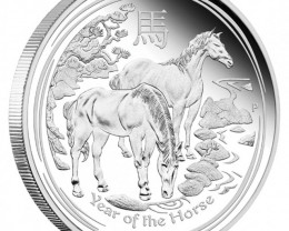 2014 Year Of the Horse HALF  Ounce Silver Coin