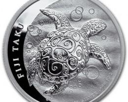 2011 Fiji Silver Taku ONE oz 999 Fine Silver