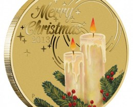 CHRISTMAS 2013 STAMP AND COIN COVER