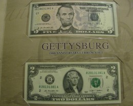 Gettysburg 150th Anniversary Currency Set